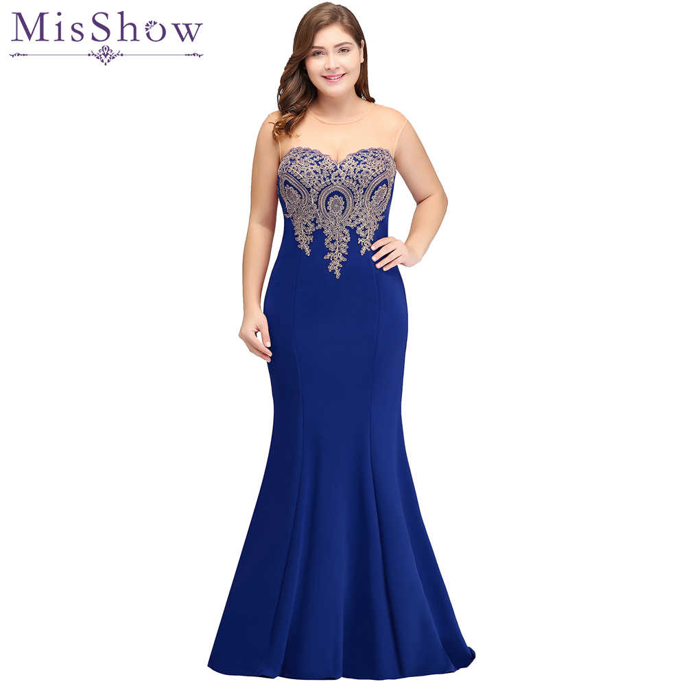 Royal blue 2019 Mother Of The Bride Dresses Plus Size Mermaid Sleeveless  Satin Long Groom Mother Dresses vestidos de novia