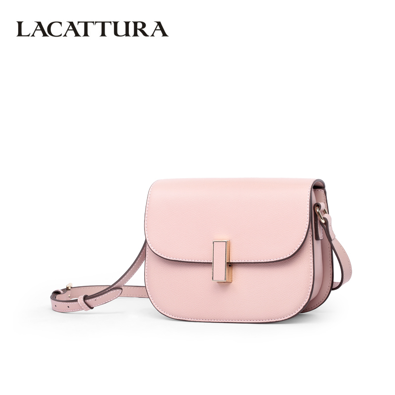 LACATTURA Luxury Handbag Women Leather Shoulder Saddle Bag Lady Fashion Small Messenger Bags Summer Clutch Crossbody for Girls lacattura small bag women messenger bags split leather handbag lady tassels chain shoulder bag crossbody for girls summer colors