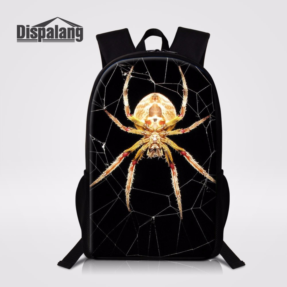 Cool Spider School Backpack For Teenage Boys Personalized Customize Bagpack For Student  ...