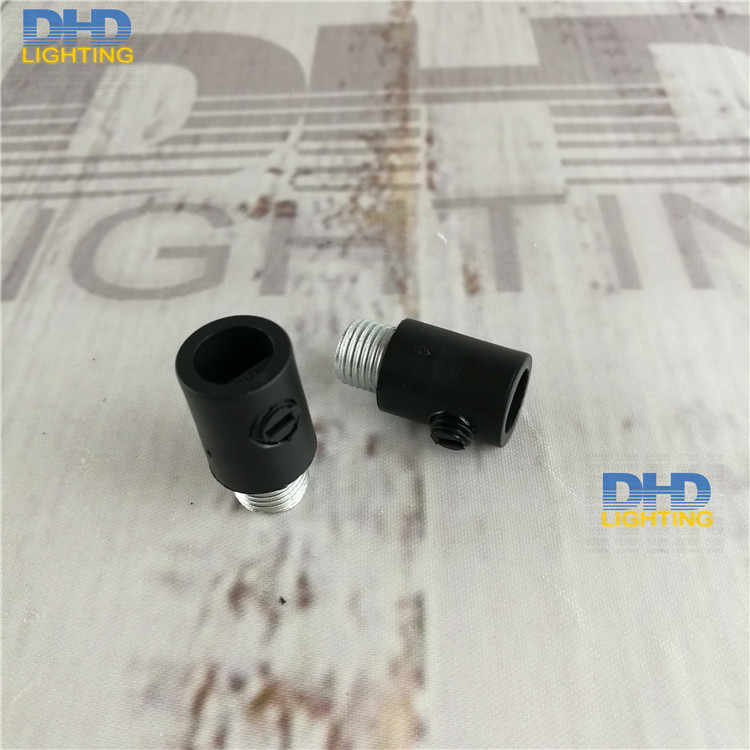 (30pcs/lot)Free shipping item 304 high quality black plastic cable grips with 15mm threaded tubes M10 DIY lighting accessories