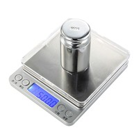 3kg x 0.1g Digital Kitchen Scale LCD Display High Precision Electronic Balance Food Scale Stainless Steel Bascula Cocina