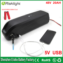 Хайлун литий 48 В батареи 48 В 20AH 1000 Вт электрический велосипед батареи для жира велосипед комплект с USB портом + Зарядное Устройство Для Sanyo сотовый