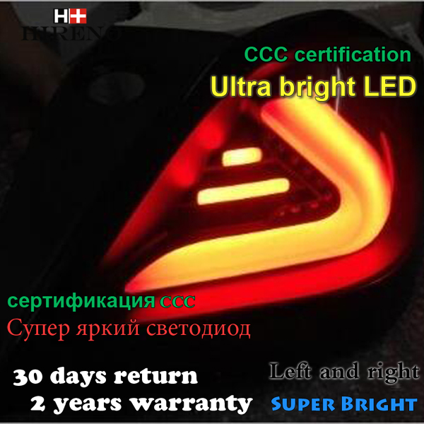 Hireno Tail Lamp for Opel Astra 2005 2006-2011 LED Taillight Rear Lamp Parking Brake Turn Signal Lights