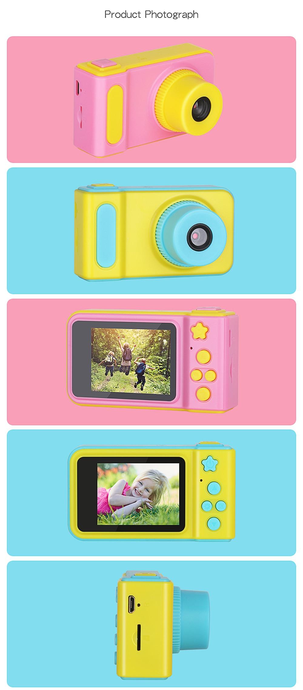 KOMERY Children's Digital Camera 2 Inch Screen Display Cartoon Cute Camera Birthday Gift 1080P Toddler Toys Video Camera For Ki