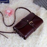 2017 women leather bag retro Korea oil wax vintage lady plain leather postage crossbody diagonal cell phone case ladies purse