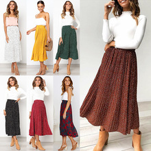 Fashion Point 2019 Sweet European and American Wind Pocket Pleated Skirt Half-length BONJEAN
