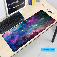 цена Mairuige Purple Space gaming mouse pad Rubber Computer large mouse pads Laptop Keyboard mat for League of Legends  free shipping