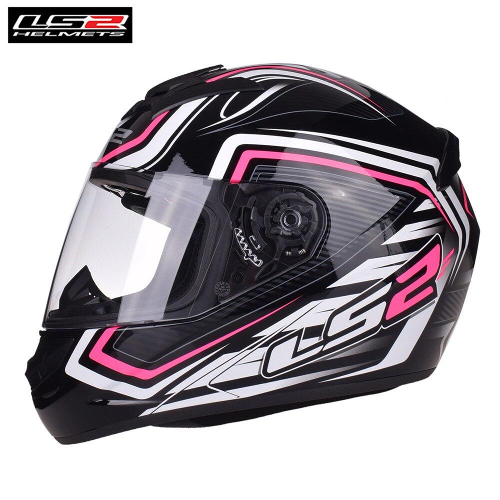 LS2 FF352 Small Size Motorcycle Helmet Women Kids Racing Helmets Moto Kask S M ROOKIE Pink Ranger 55 56 57 58 CM