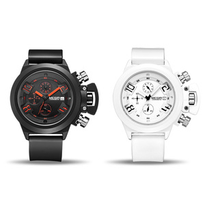 Image 3 - MEGIR מקורי שעון גברים ספורט קוורץ גברים שעונים הכרונוגרף שעון יד Relogio זמן שעה שעון Reloj Hombre Mens שעונים