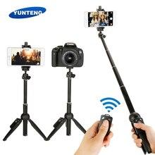 Mini tripé dobrável para selfie, tripé 3 em 1 dobrável com bluetooth remoto para iphone 7 8 x xiaomi huawei samsung gopro aqui 5 4 yi cam