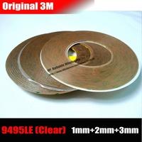 Mix 3 Rolls 1mm 2mm 3mm Wide 3M Clear Adhesive Tape For Iphone Ipad Samsung HTC