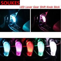 Car Automotive LED Shifter Gear Shift Knob For Peugeot 206 307 407 308 208 3008 Toyota Corolla Yaris Rav4 Avensis Mini Cooper