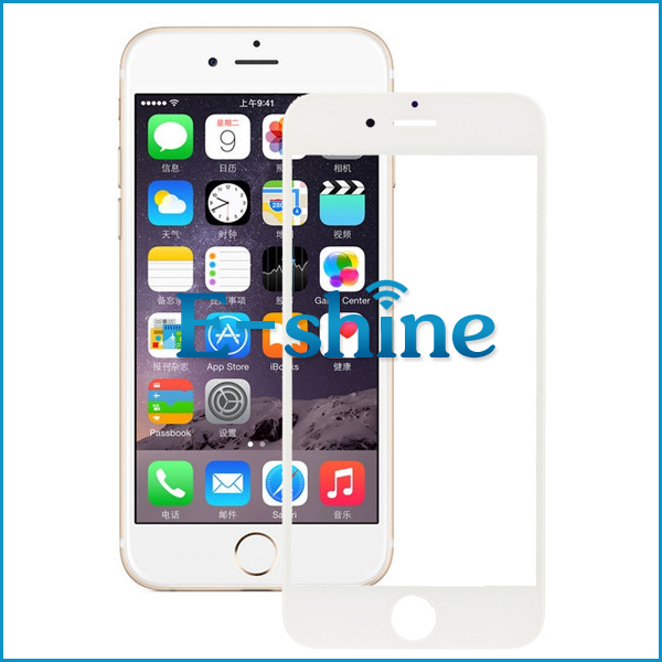 For iPhone 6 6S Touch Screen Out Front Glass Lens Cover Black and White Replacement for iPhone6 6S Free Shipping