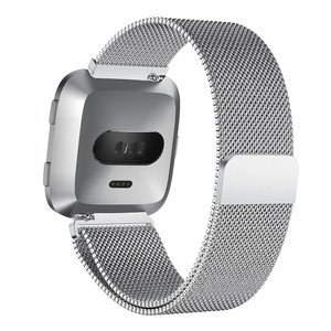 Image 3 - Milanese Magnetic Loop Stainless Steel Band For Fitbit Versa Gold Watch 5.5 6.7 inch Dropshipping Wristwatches Steel metal