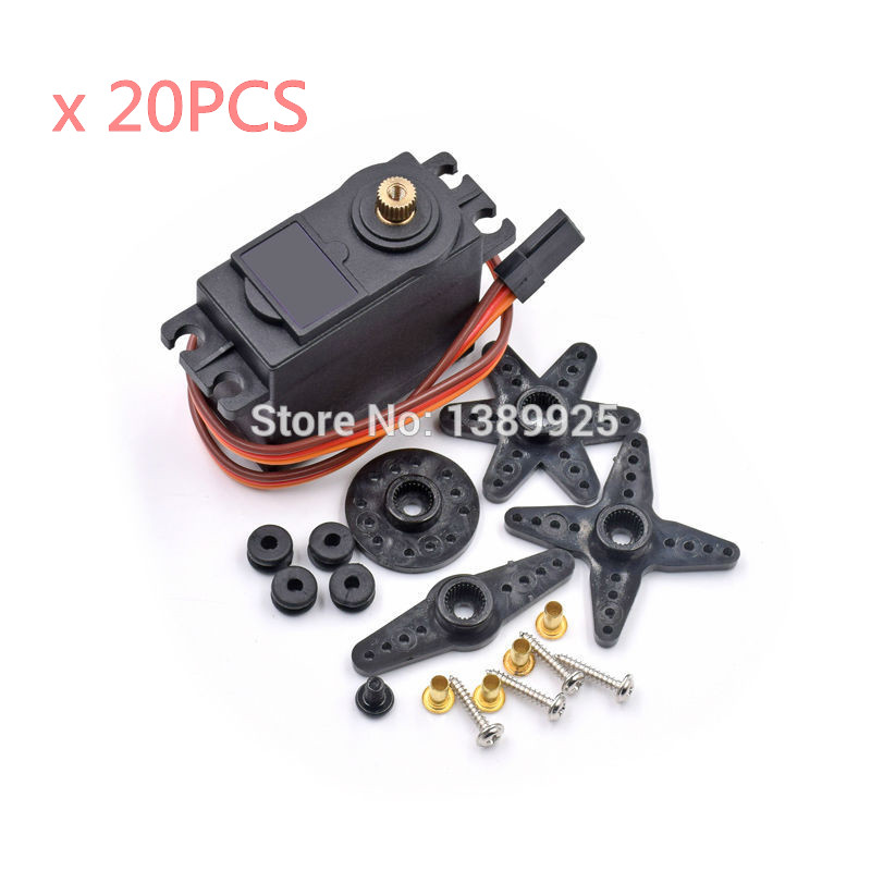 20PCS/LOT MG996R MG996 Metal Gear RC Servo High Speed & Torque RC CAR 1/8