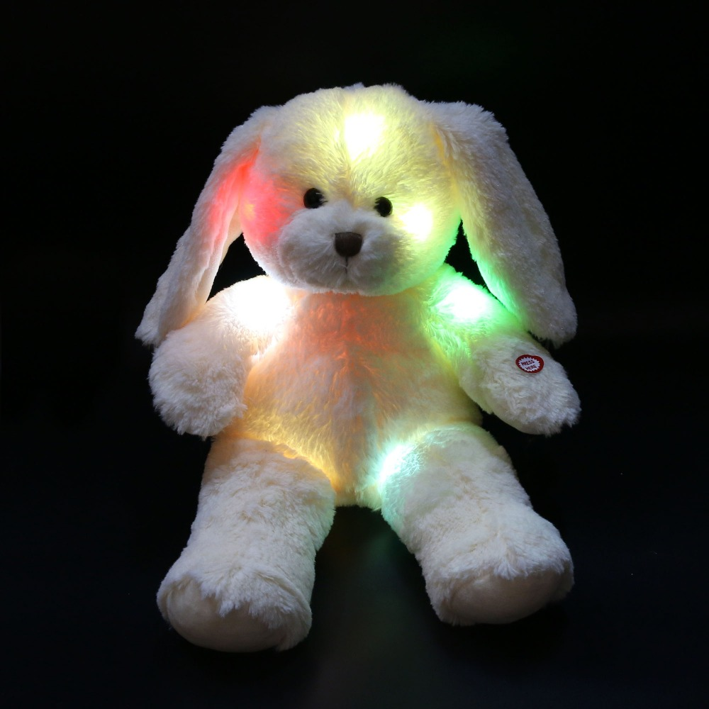 Free shipping 45cm 1pcs cute easter day bunny doll night glowing free shipping 45cm 1pcs cute easter day bunny doll night glowing led rabbit plush toys easter gifts birthday gifts for kids in stuffed plush animals from negle Gallery