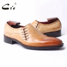 cie square toe medallion bespoke leather man shoe handmade men's shoe oxford goodyear craft shoe color brown breathable ox299