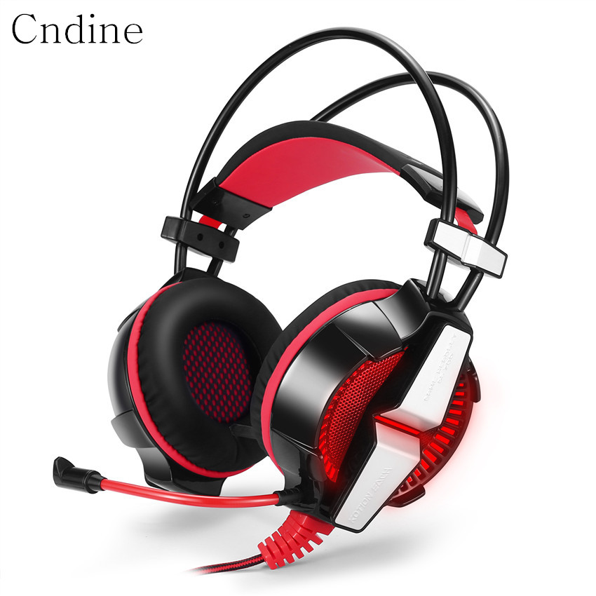 Gaming Headset Gamer Adjustable Headband Headphones Gamer with Microphone LED Stereo Deep Bass Headphones for Laptop Notebook deepdee gaming headset stereo headphones with microphone for xiaomi internet computer gamer noise canceling music bass headband