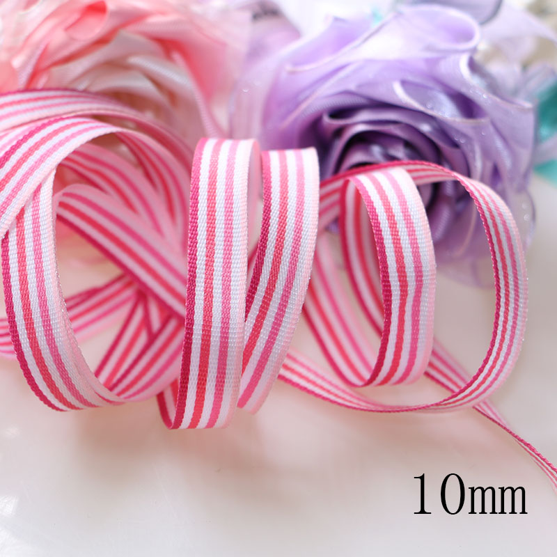 5 yards lot 1 39 39 10mm Yarn dyed weaving grosgrain ribbon printed gift wrap ribbon decoration ribbons in Ribbons from Home amp Garden