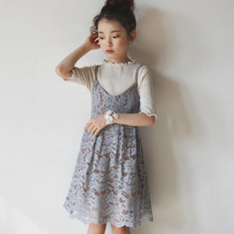 Kids Clothes Girls Sleeveless Lace Dress Children Girls Party Dress Baby Princess Dress Vetement Enfant Fille 9 10 11 12 13 14 T 2018 new style spring kids baby girl clothes 2pcs casual girl outfits sets denim jackets sleeveless dress vetement fille 13 14