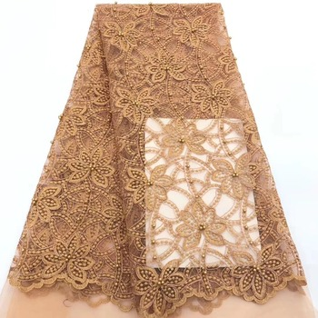 African Lace Fabric 2019 High Quality Lace For Bride Wedding Fabric Beautiful design Nigerian Tulle Lace Fabric