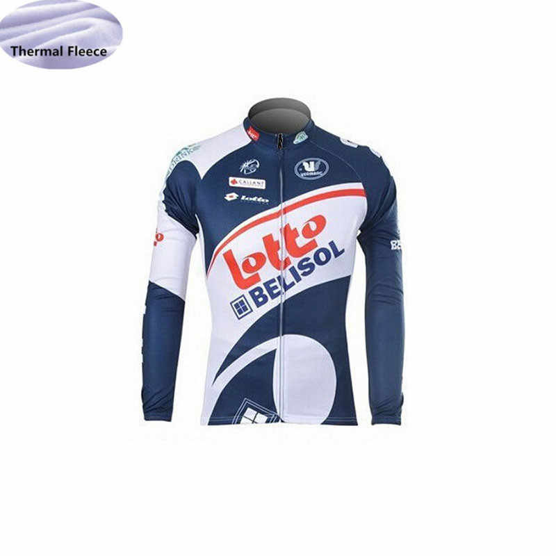 ... LAMPRE Cycling jersey 2018 pro team Winter Thermal Fleece lotto Outdoor  sport long sleeves Cycling Clothing ... 8f6229afc