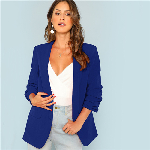 Blue Workwear Shawl Collar...