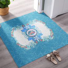 European style PVC high elastic wire loop Entry mat Thicken DIY Door bathroom non-slip waterproof soft carpet customize rug