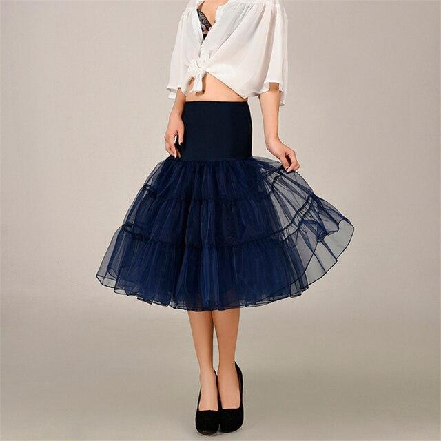 2020 Spring Cosplay Petticoat Woman Underskirt 65CM Length Knee Short For Wedding Petticoat 3 Layers Puffy Organza Evening Tutu 4