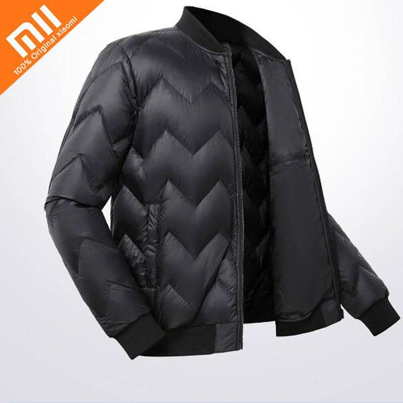 все цены на Xiaomi mijia ULEEMARK lightweight baseball goose down jacket 90% white goose down lightweight design winter men's down jacket