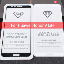 5D Full Curved Edge Premium Tempered Glass For Huawei Honor 9 Lite Full Glue Screen Protector Film For Huawei Honor 9 Lite 9Lite цена и фото