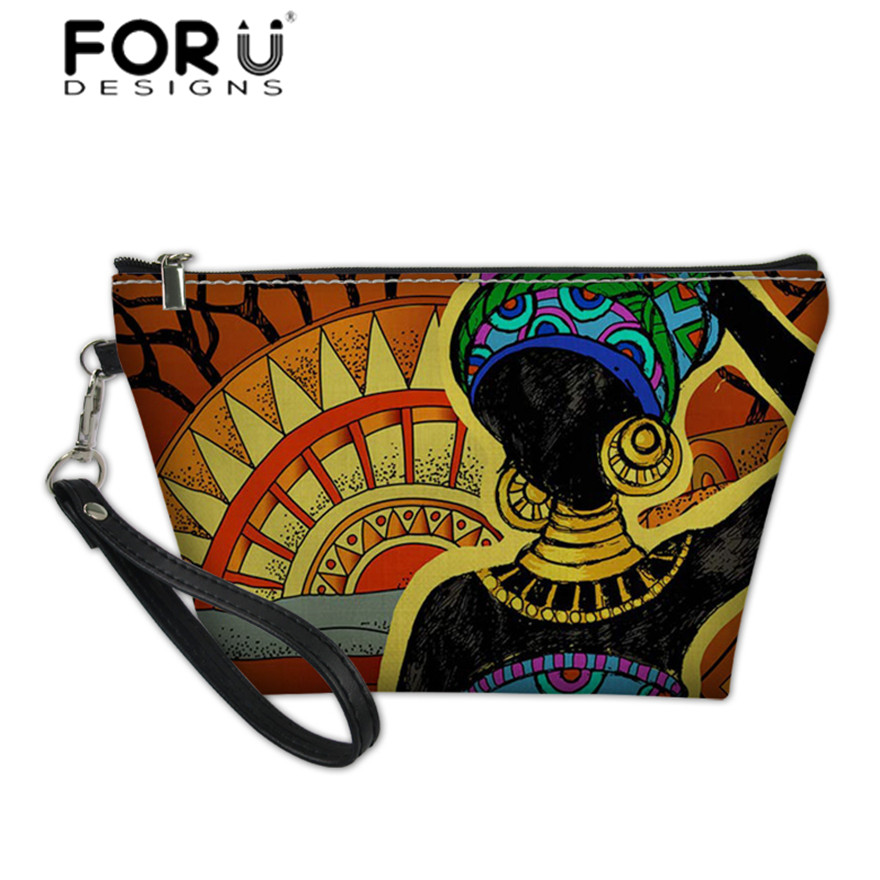 African Animals Dark Pattern Canvas Coin Purse Retro Money Bag With Zip