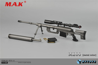 1:6 scale metal color CheyTac intervention M 200 sniper rifle weapon model toys ZY15 11 fit for 12 action figure accessories