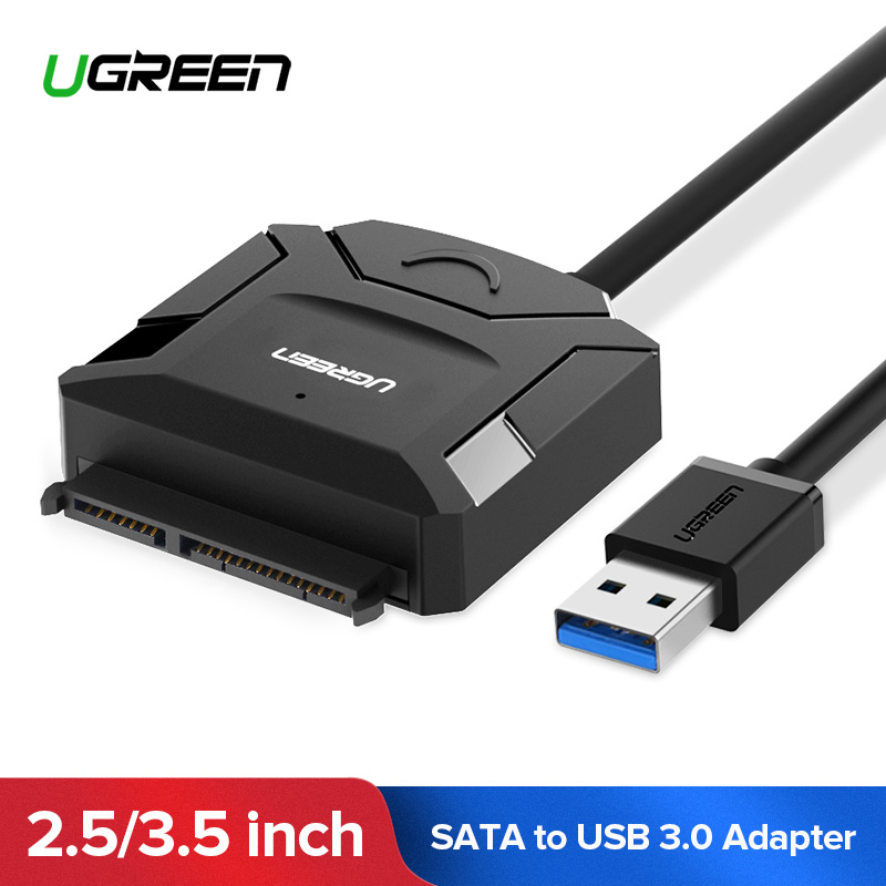 Ugreen SATA to USB Adapter USB 3.0 2.0 to Sata 3 Cable Converter for 2.5 3.5 HDD SSD Hard Disk Drive USB Sata Adapter 50cm sata to usb adapter usb 3 0 cable to sata converter for 2 5 3 5 hdd ssd hard disk support uasp for win 8 8 1 10 mac os 8