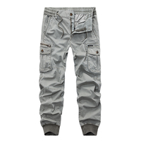 New 2018 Brand Casual Joggers Solid Color Pants Men Cotton Elastic Trousers Military Style Army Cargo