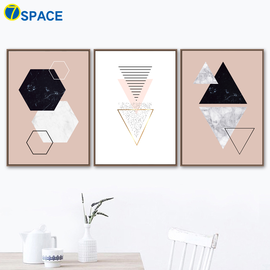 Abstract Geometric Heart Line Wall Art Canvas Painting Nordic Poster Canvas Art Print Wall Pictures For Living Room Quadro Decor in Painting Calligraphy from Home Garden