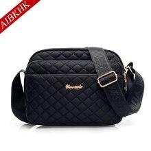 Waterproof Nylon Women Messenger Bags Plaid Hobos Ladies Handbag Female Shoulder Crossbody for women 2019 Sac a Main