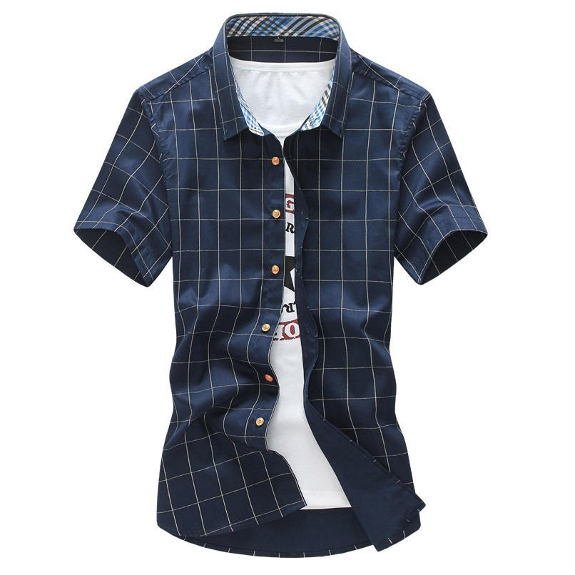 Aliexpress.com : Buy Summer plaid shirts men short sleeve casual ...