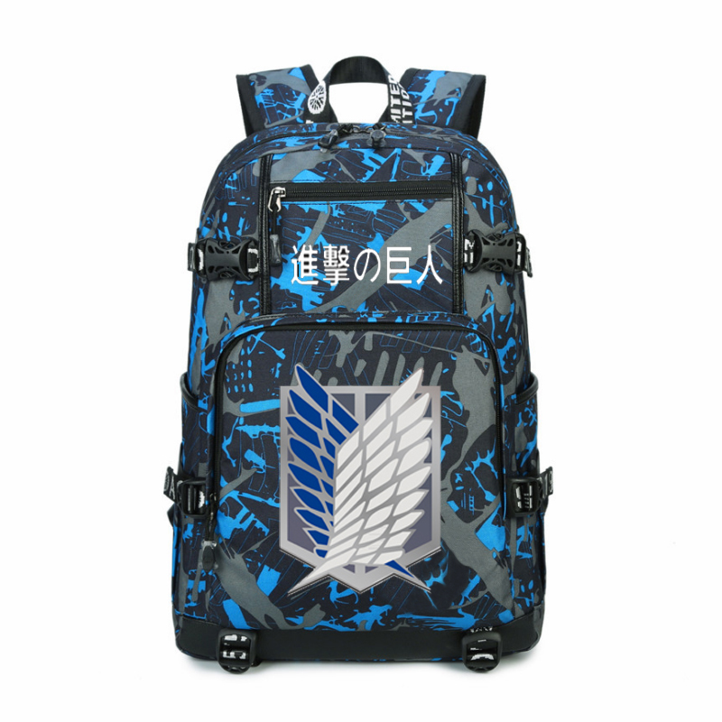Women Men Anime Attack on Titan Scouting Legion Backpack Rucksack Mochila Schoolbag Bag For School Boys Girls Student Travel anime cartoon tokyo ghoul cosplay backpack schoolbag one piece gintama school bag rucksack men s women s naruto travel bag