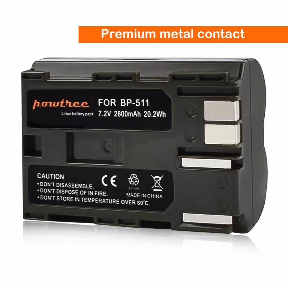 4X 2800Mah BP 511 BP511 BP 511A BP511A Battery Digital Camera AKKU For Canon EOS 40D 300D 5D 20D 30D 50D 10D D60 G6 Battery L10 in Digital Batteries from Consumer Electronics