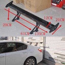 Car Spoiler for Sedan, Rear Trunk, Wing Spoiler Adjustable, Deck Black – Aluminum, 135CM