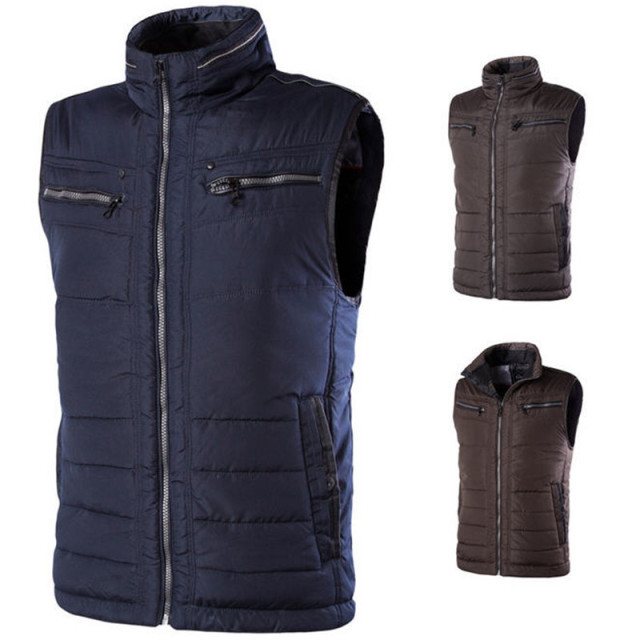 2017 New Winter Waistcoat Mens Plus Size Cotton Padded Sleeveless Jacket 4XL 5XL 6XL Casual Zipper Thick Warm Vest A1414
