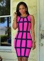 Jocelyn katrina nuevo estilo del o-cuello mujeres dress dress paquete delgado verano 2017 de neón de color sexy tank dress