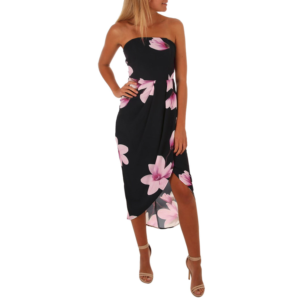 2018 Summer Bandage Dress Women Boho Floral Print Off Shoulder Maxi Dress Long Party Dresses Back Tie Evening Vestidos