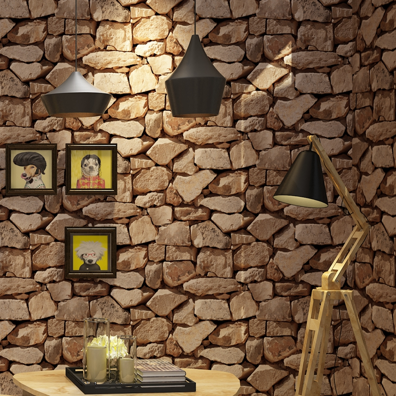 Wallpapers youman Vintage Waterproof Wall Paper Home Decor 3D Imitation Rock Stone Vinyl Wallpaper Walls Decor desktop wallpaper цены