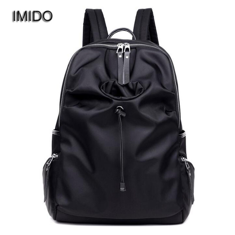IMIDO Fashion Nylon women backpack shoulder bag waterproof backbag female travelling backpack brands girls mochilas mujer SLD006