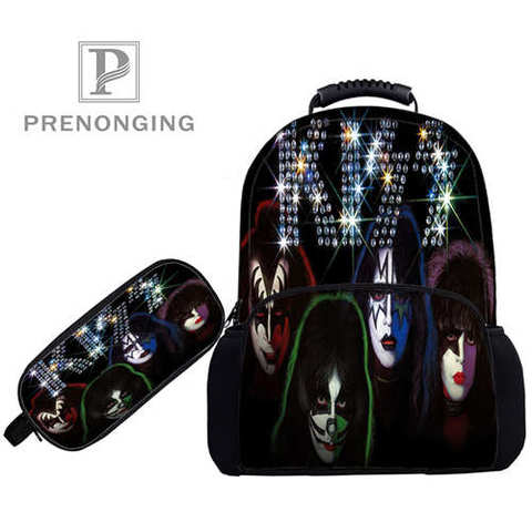 Custom 17inch KISS-Monster- Backpacks Pen Bags 3D Printing School Women Men Travel Bags Boys Girls Book Computers Bag#1031-01-51 Multan