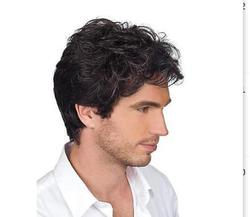 Blonde Long Wavy Popular Synthetic fibre queen hair Hot! New Vogue Sexy Korean Men's Male Hair Handsome Boys Short Wig Cosplay