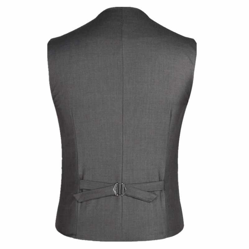 Helisopus 男性のトレンディなビジネスドレスベストスーツスリムフィットタキシードチョッキベストジャケット男性プラスアジアサイズ 5XL 6XL