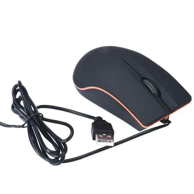 USB Optical LED Wired Game Mouse Kantor Ergonomis Mouse untuk PC Laptop Komputer J02T Drop Pengiriman